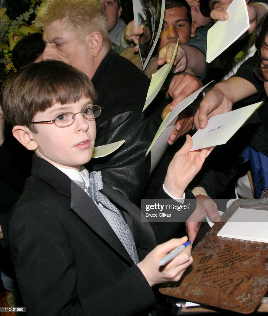 Freddie Highmore during 2005 Screen Actors Guild Awards HBO Post SAG Awards Dinner at Spago Restaurant in Beverly Hills California United States