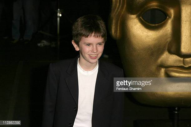 Freddie Highmore during British Academy Children's Film Television Awards 2005 at Hilton Hotel in London Great Britain