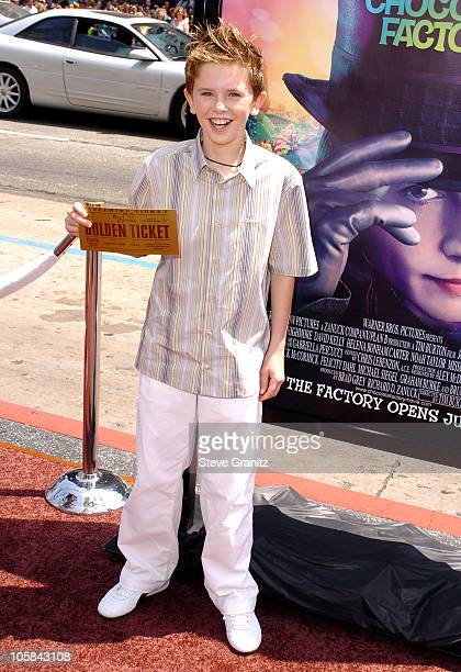 Freddie Highmore during 'Charlie and the Chocolate Factory' Los Angeles Premiere Arrivals at Chinese Theatre in Hollywood California United States