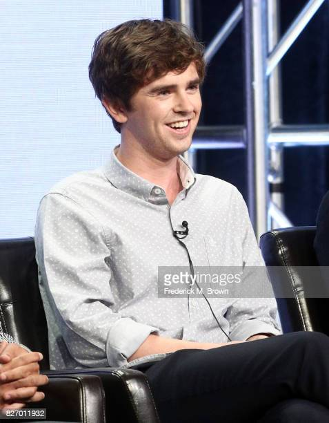 Freddie Highmore of 'The Good Doctor' speaks onstage during the Disney/ABC Television Group portion of the 2017 Summer Television Critics Association...