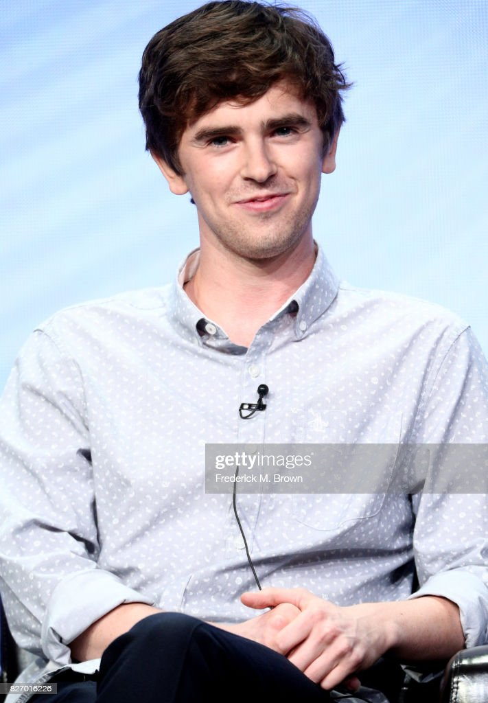 Freddie Highmore of 'The Good Doctor' speaks onstage during the Disney/ABC Television Group portion of the 2017 Summer Television Critics Association Press Tour at The Beverly Hilton Hotel on August 6, 2017 in Beverly Hills, California.
