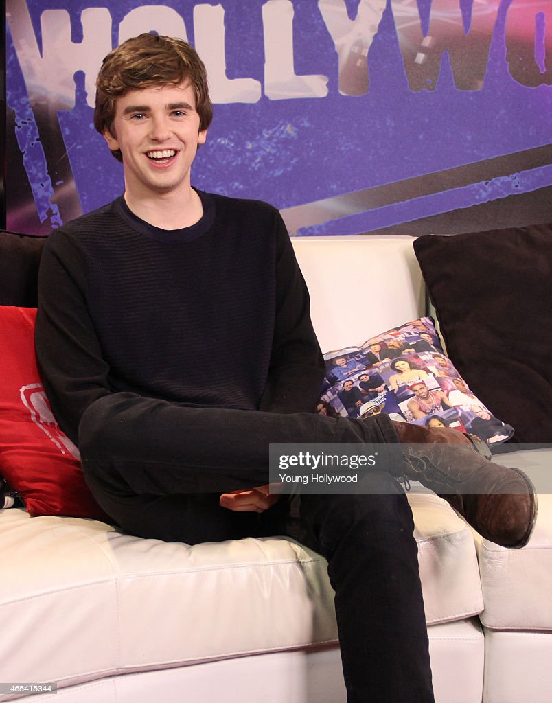 Freddie Highmore Visits Young Hollywood Studio