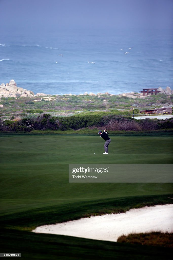 Freddie Jacobson of Sweden plays a shot from the 10th fairway during round three of the AT&T Pebble Beach National Pro-Am at Monterey Peninsula Country Club (Shore Course) on February 13, 2016 in Pebble Beach, California.