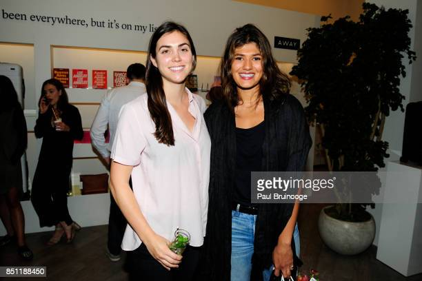 Freddie Kemp and Lauren Joseph attend Away Flagship Store Opening at Away on September 21 2017 in New York City