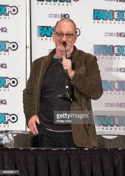 Freddie Kruger actor Robert Englund attends the celebrity QA session at the 2014 Vancouver Fan Expo at the Vancouver Convention Centre on April 18...