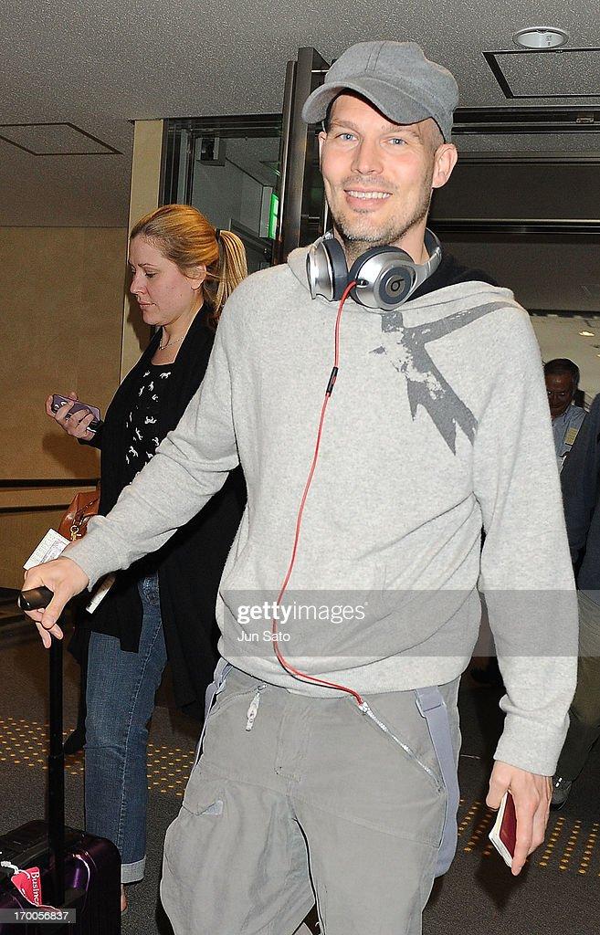 Freddie Ljungberg arrives at Narita International Airport on June 7, 2013 in Narita, Japan.