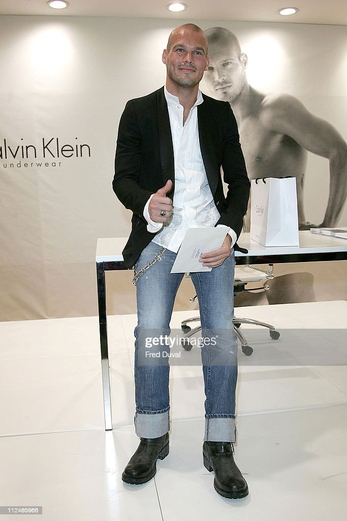 Freddie Ljungberg during Calvin Klein Underwear Launch with Freddie Ljungberg at House of Fraser in London, Great Britain.