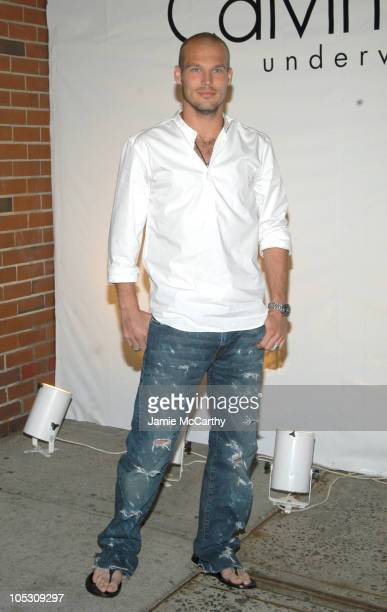 Freddie Ljungberg during Calvin Klein Underwear Party hosted by Hilary Swank and Freddie Ljungberg at Milk Studios in New York City New York United...