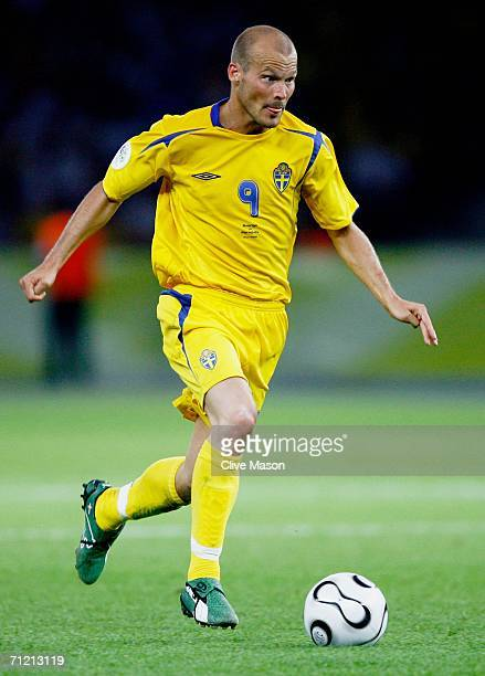 Freddie Ljungberg of Sweden in action during the FIFA World Cup Germany 2006 Group B match between Sweden and Paraguay played at the Olympic Stadium...