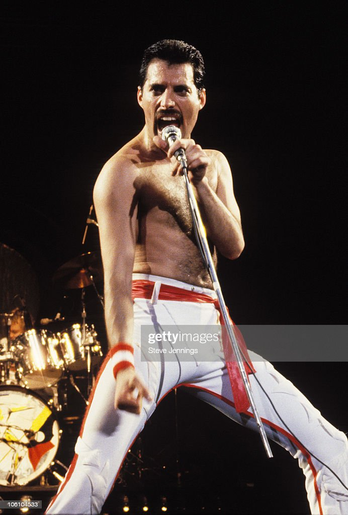 Freddie Mercury of Queen 1982 Tour