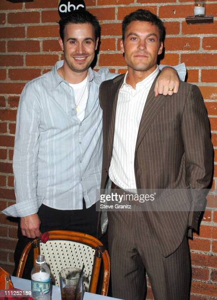 Freddie Prinze Jr and Brian Austin Green during ABC 2005 Summer Press Tour AllStar Party Inside Party at The Abby in West Hollywood California United...