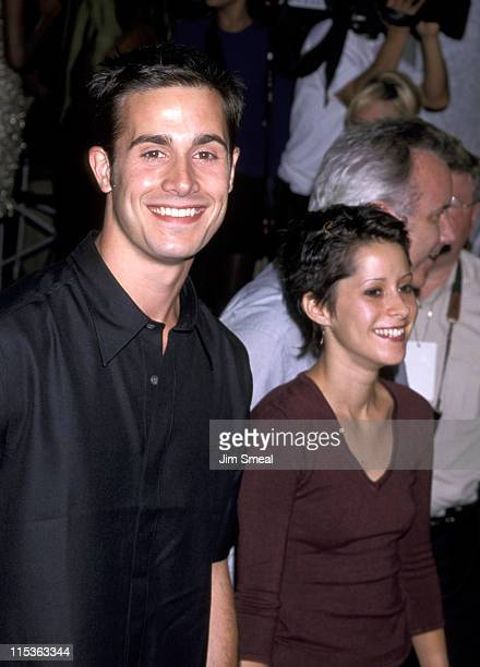 Freddie Prinze Jr and Kimberly McCullough during '54' Premiere August 24 1998 at Mann's Chinese Theater in Hollywood California United States