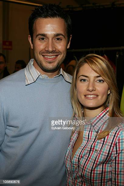 Freddie Prinze Jr and Madchen Amick during Olympus Fashion Week Fall 2006 Lacoste Backstage at Bryant Park in New York City New York United States
