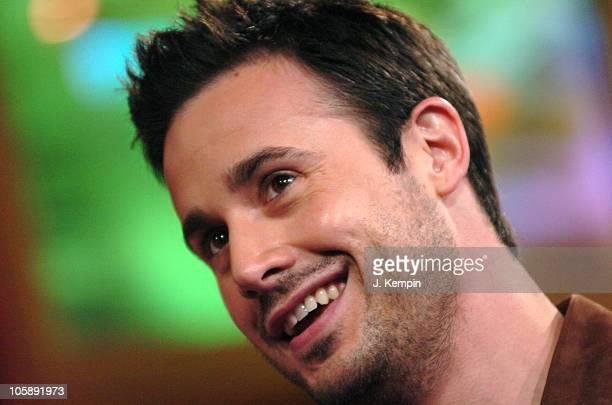 Freddie Prinze Jr during Freddie Prinze Jr and Dem Franchize Boyz Visit MTV's 'TRL' February 6 2006 at MTV Studios in New York City New York United...
