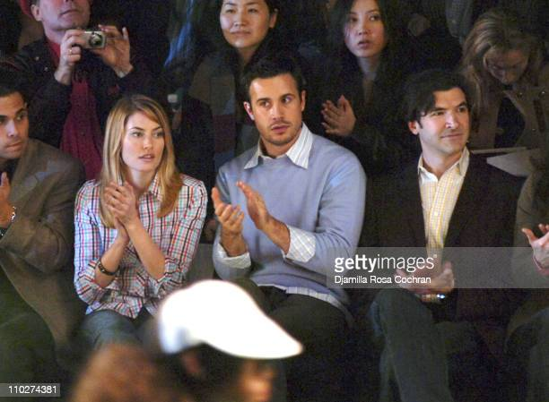 Freddie Prinze Jr during Olympus Fashion Week Fall 2006 Lacoste Front Row and Backstage at The Tent Bryant Park in New York City New York United...