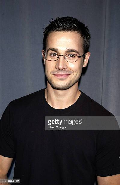 Freddie Prinze Jr during The Cast of 'Scooby Doo' Visits MTV's 'TRL' June 12 2002 at MTV Studios Times Square in New York City New York United States