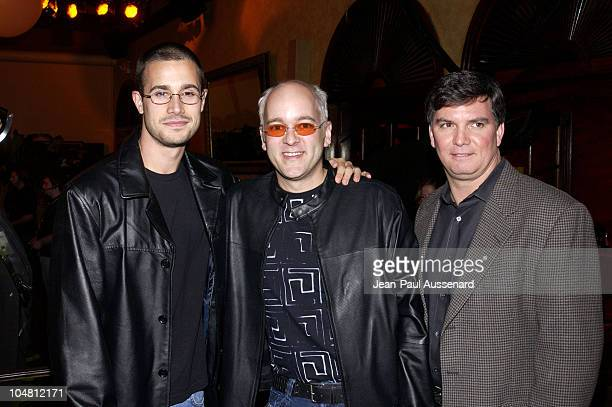 Freddie Prinze Jr J Allard Mitch Koch during Launch Party For Xbox Live Party at Peek at The Sunset Room in Hollywood California United States