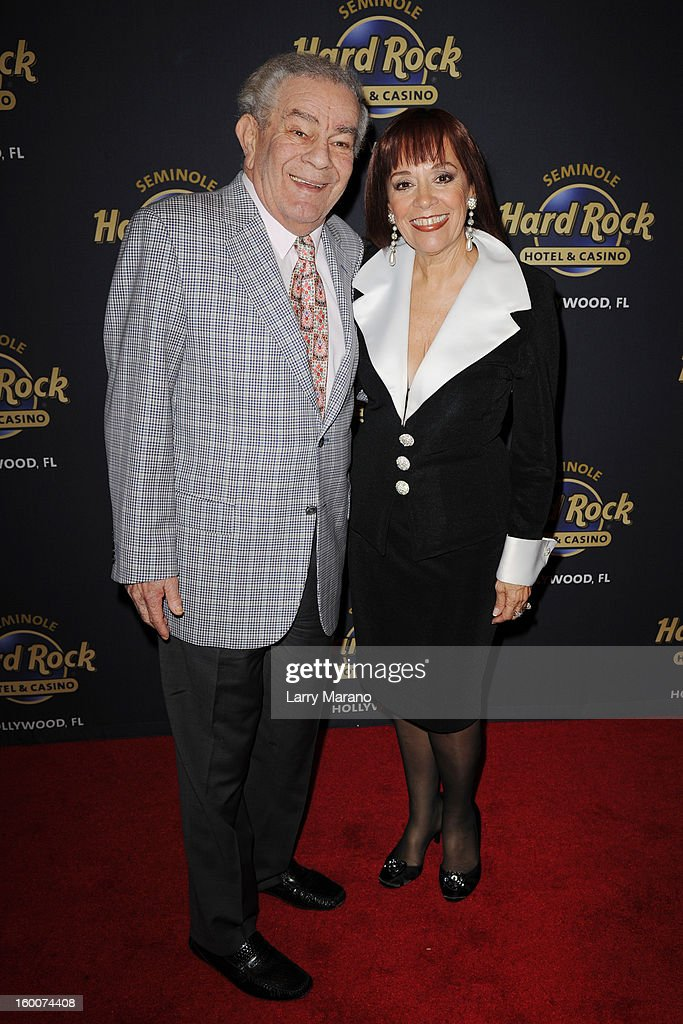 Freddie Roman and Ann Anello attend Footlighters Club Roast of Sal Richards at Hard Rock Live! in the Seminole Hard Rock Hotel & Casino on January 25, 2013 in Hollywood, Florida.