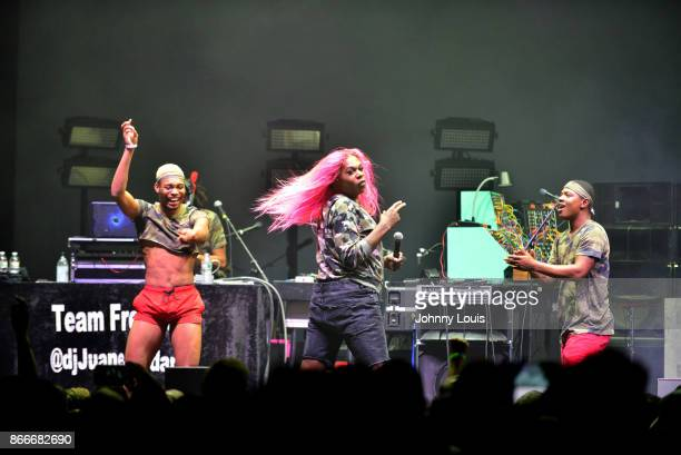 Freddie Ross known professionally as Big Freedia performs at James L Knight Center on October 25 2017 in Miami Florida