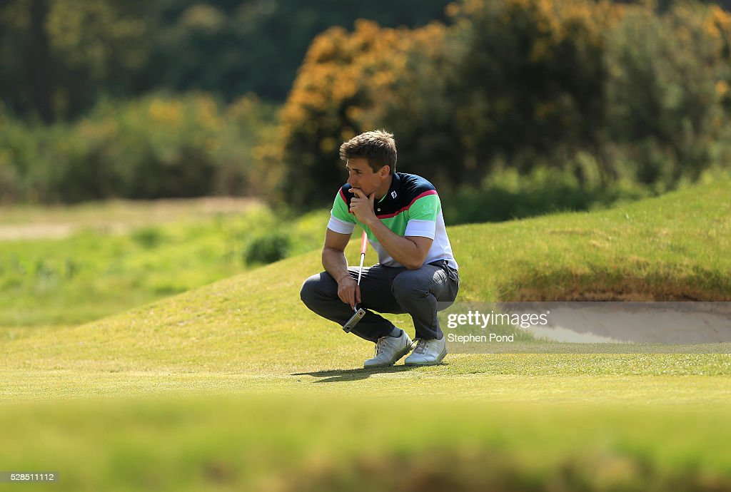Freddie Russell of Essendon Country Club during the PGA Assistants Championship East Qualifier at Ipswich Golf Club on May 5, 2016 in Ipswich, England.