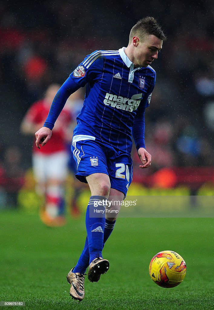 Freddie Sears of Ipswich Town during the Sky Bet Championship match between Bristol City and Ipswich Town at Ashton Gate on February 13, 2016 in Bristol, England.