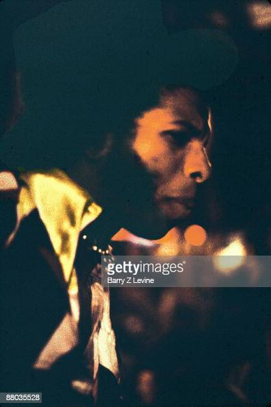 Freddie Stone of the band Sly and the Family Stone performs onstage at the Woodstock Music and Arts Fair in Bethel New York August 17 1969