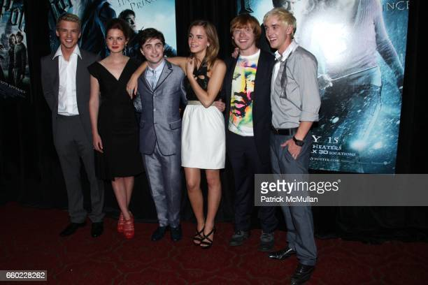 Freddie Stroma Bonnie Wright Daniel Radcliffe Emma Watson Rupert Grint and Tom Felton attend WARNER BROTHERS PICTURES Presents the North American...