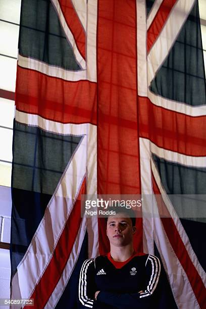 Freddie Woodward of Britain poses for a picture as the Team GB diving team is announced for the Rio 2016 Olympic Games at the John Charles Centre on...