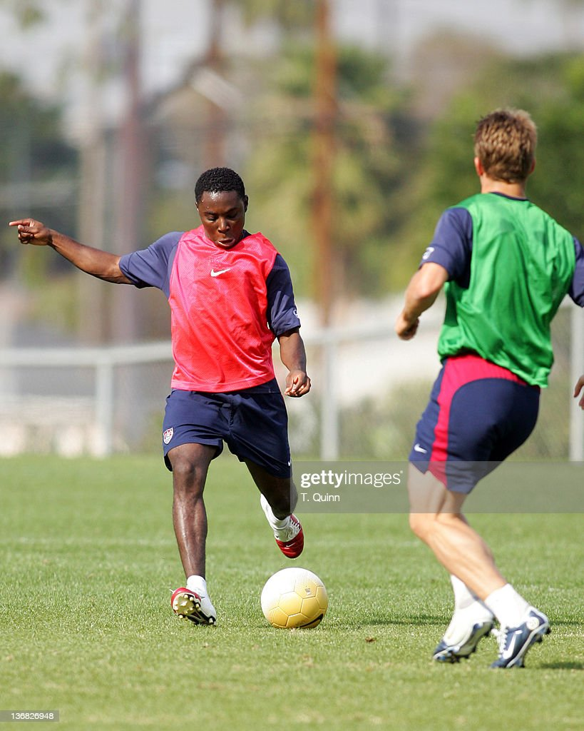 Freddy Adu of DC United at the 2006 USA World Cup team training session on January 22 2006 at the Home Depot Center in Carson California