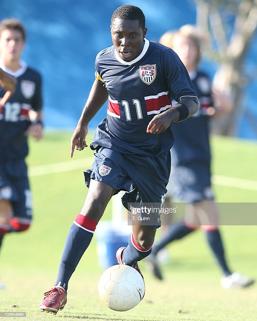 Freddy Adu of DC United moves into the attack for USA USA under 21 men's team completely outclassed Haiti's under 23 team 51 In Fort Lauderdale...