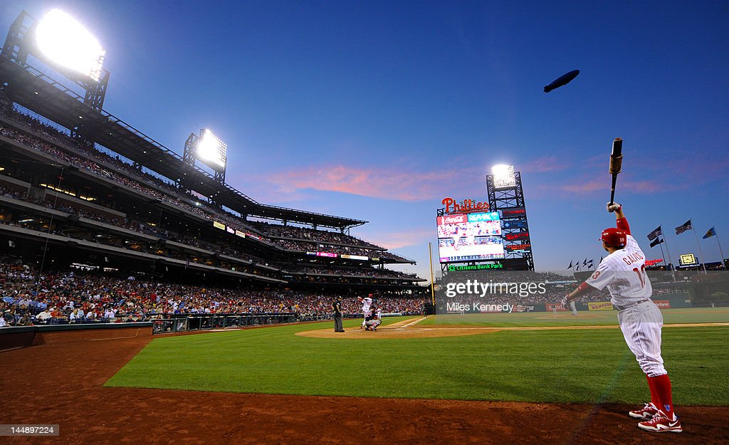 <a gi-track='captionPersonalityLinkClicked' href=/galleries/search?phrase=Freddy+Galvis&family=editorial&specificpeople=6772271 ng-click='$event.stopPropagation()'>Freddy Galvis</a> #13 of the Philadelphia Phillies waits on deck against the Boston Red Sox in the fifth inning on May 18, 2012 at Citizens Bank Park in Philadelphia, Pennsylvania. The Phillies won 6-4.