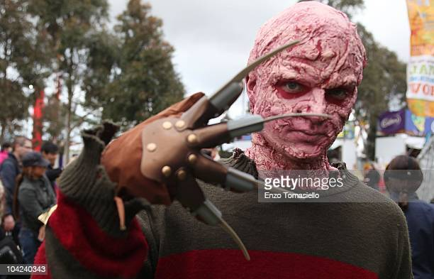 Freddy Kruger is seen at the Royal Melbourne Show at Melbourne Showgrounds on September 18 2010 in Melbourne Australia The Show has been taking place...