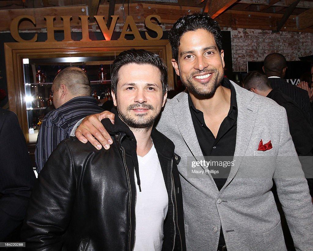 Freddy Rodriguez and Adam Rodriguez attend LA's Chivas Regal 1801 Club LA launch party on March 20, 2013 in Los Angeles, California.