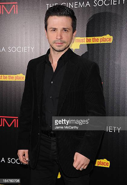 Freddy Rodriguez attends the Weinstein Company Cinema Society Screening of 'This Must Be The Place' at the Tribeca Grand Hotel on October 25 2012 in...