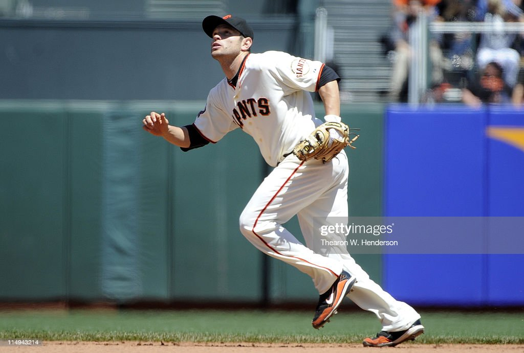 <a gi-track='captionPersonalityLinkClicked' href=/galleries/search?phrase=Freddy+Sanchez&family=editorial&specificpeople=220611 ng-click='$event.stopPropagation()'>Freddy Sanchez</a> #21 of the San Francisco Giants in action against the Florida Marlins during a MLB baseball game at AT&T Park May 26, 2011 in San Francisco, California. The Marlins won the game 1-0.