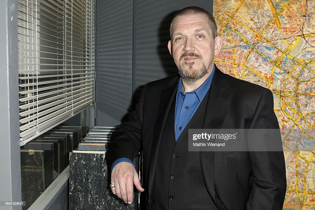 Freddy Schenk attends the photocall at the set of the WDR Tatort 'Der Fall Reinhardt - Drei tote Kinder bei Brandanschlag' on March 20, 2013 in Cologne, Germany.