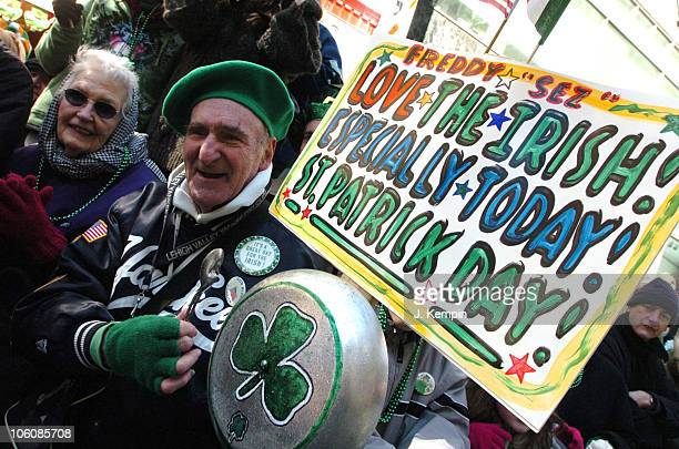 Freddy 'Sez' Schuman participants in the 245th St Patrick's Day Parade in New York City on March 17th 2006