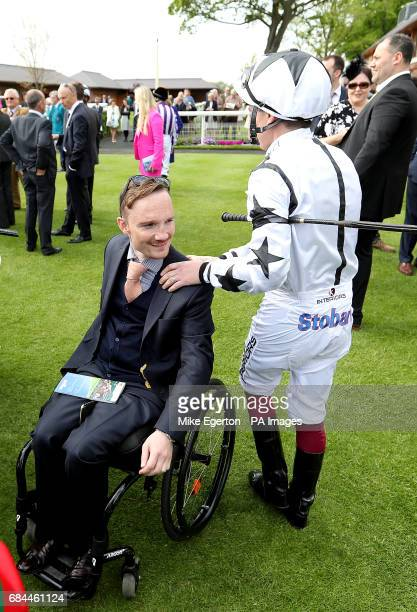 Freddy Tylicki and Andrew Mullen during day two of the Dante Festival at York Racecourse
