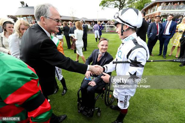 Freddy Tylicki and Andrew Mullen during day two of the Dante Festival at York Racecourse PRESS ASSOCIATION Photo Picture date Thursday May 18 2017...