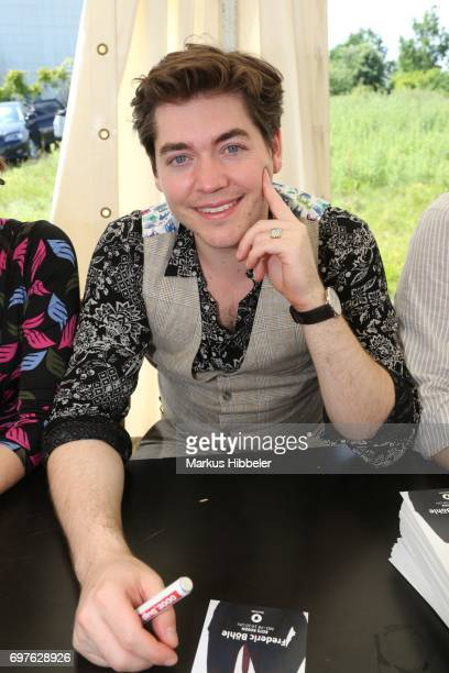 Frederic Baehle poses during the celebration of 2500 episodes of 'Rote Rosen' on June 18 2017 in Lueneburg Germany