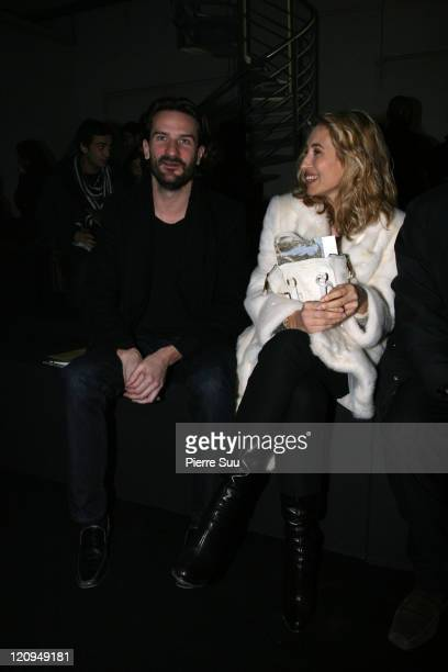 Frederic Beigbeder and Alexandra Golovanoff during Paris Fashion Week Haute Couture Spring/Summer 2007 Givenchy Front Row at Ateliers Berthier in...
