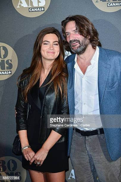 Frederic Beigbeder and his Wife Lara Micheli attend the 30 Th Anniversary of Canal at Palais de Tokyo in Paris