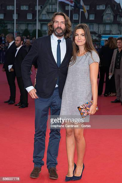 Frederic Beigbeder and Lara Micheli attend 'The Hundred Foot Journey' Premiere on September 6 2014 in Deauville France