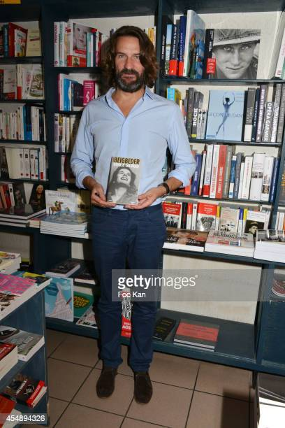 Frederic Beigbeder attends the 'Oona Et Salinger' Frederic Beigbeder Book signing 40th Deauville American Film Festival at the Librairie de Deauville...