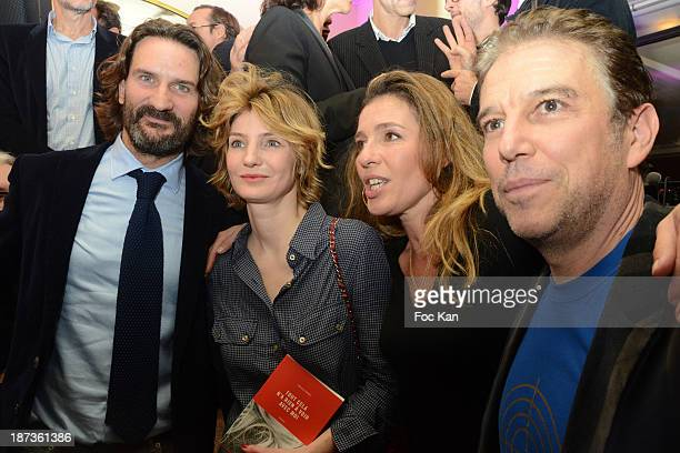 Frederic Beigbeder Monica Sabolo Carole Chretiennot and Philippe Vandel attend the Prix de Flore 2013' Ceremony Cocktail At Cafe De Flore on November...
