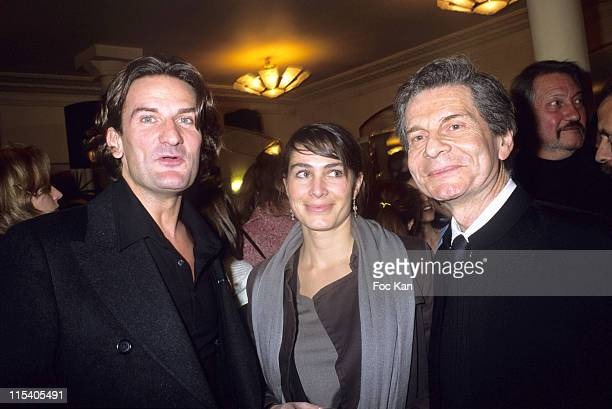Frederic Beigbeder the Cafe de Flore 2005 Award prize winner Joy Sorman for her Book 'Boys Boys Boys' and her father