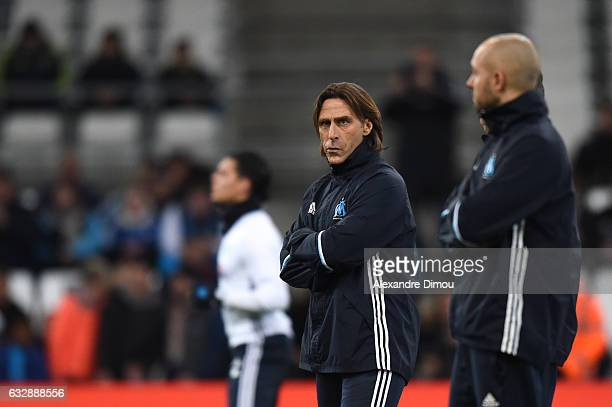Frederic Bompard Assistant Coach of Marseille during the Ligue 1 match betweenn Olympique de Marseille and Montpellier Herault SC at Stade Velodrome...