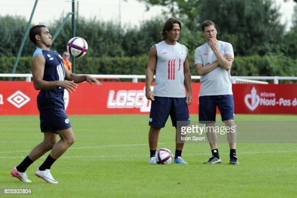 Frederic BOMPARD / Dimitri PAYET / Rudi GARCIA reprise Entrainement et conference de presse Lille Ligue 1 2011/2012