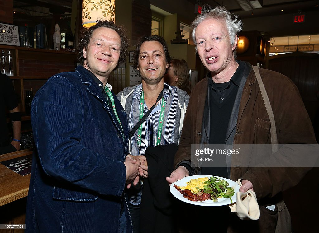 Frederic Boyer (L) attends the Directors Brunch during the 2013 Tribeca Film Festival on April 23, 2013 in New York City.