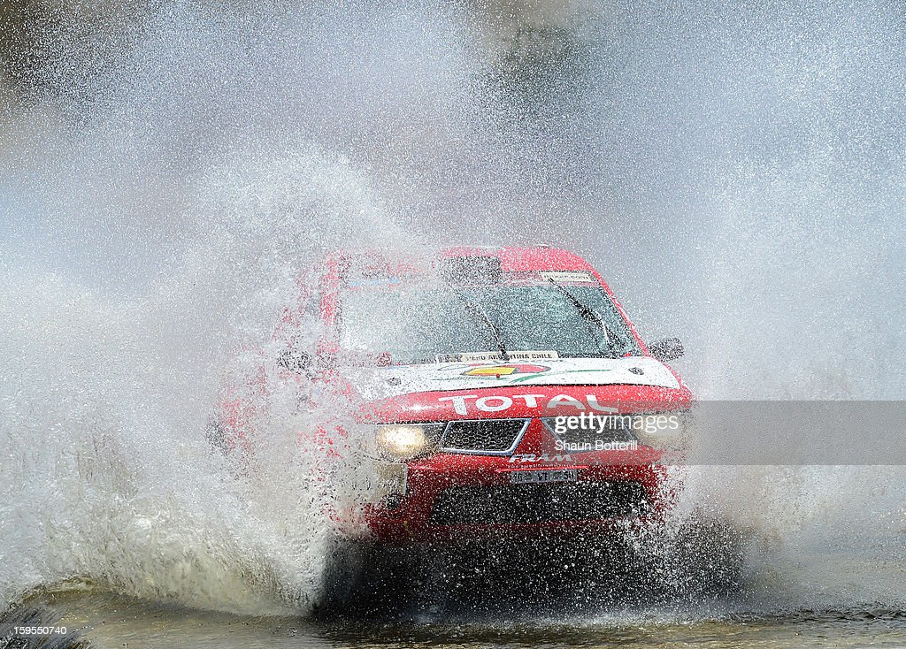 Frederic Chavigny and co-driver Guy Leneveu of team Proto Dessoude compete in stage 10 from Cordoba to La Rioja during the 2013 Dakar Rally on January 15, 2013 in Cordoba, Argentina.